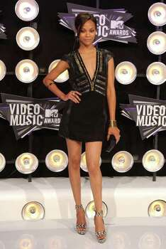 LOS ANGELES, CA - AUGUST 28:  Actress Zoe Saldana arrives at the 2011 MTV Video Music Awards at Nokia Theatre L.A. LIVE on August 28, 2011 in Los Angeles, California. Photo: Jason Merritt, Getty Images / 2011 Getty Images