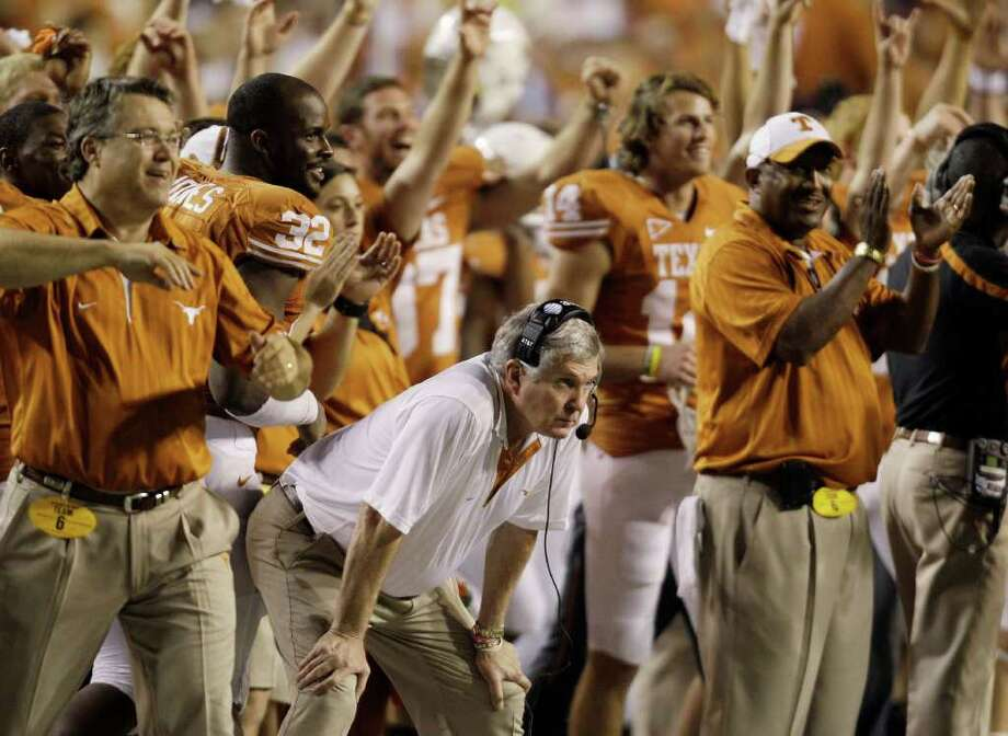 5. Texas (8-4, 5-4): After a near national title in 2009 and a nightmare in 2010, isn't anything in between possible in 2011. Photo: Eric Gay, Associated Press / AP2010
