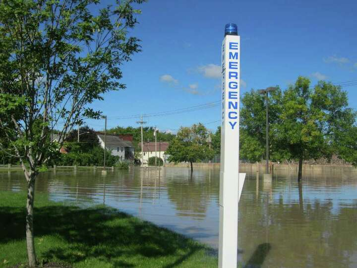 Flooding in the Stockade of Schenectady on Aug. 29, 2011. (Lauren Stanforth/Times Union)