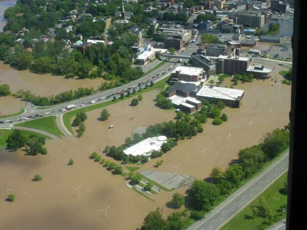 Schenectady Community College is surrounded by the Mohawk River in Schenectady on Aug. 29, 2011. (Jimmy Vielkind/Times Union)