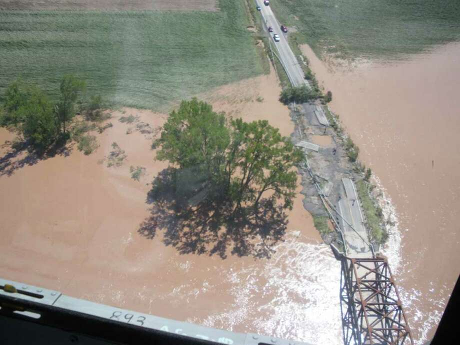 Route 30 in Schoharie County is washed out in several places by floodwaters that swamped the low-lying parts of the county. (JIMMY VIELKIND / TIMES UNION)