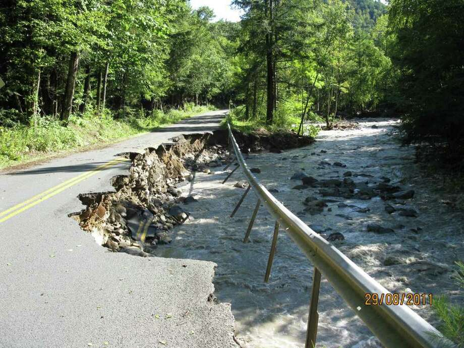 Petersburgh - Dill Brook Road - this one will need a bridge. Photo: .