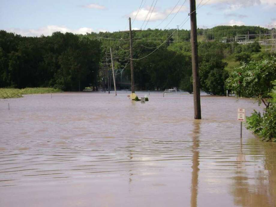 Soccer field completely flooded in Scotia Photo: .