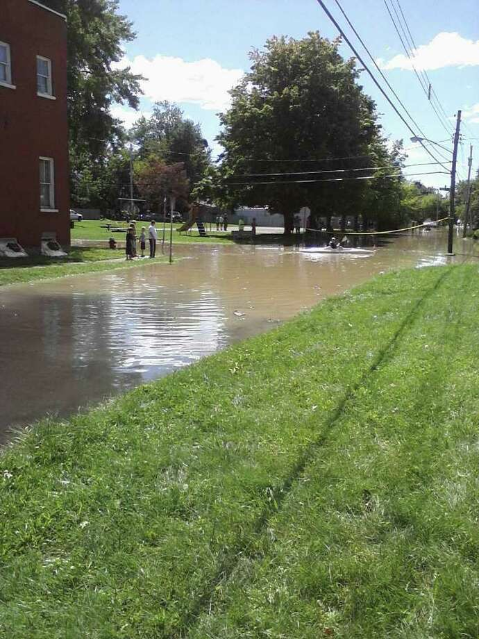 Intersection of 1st Avenue and 120th Street in Lansingburgh. Photo: Stephanie Jones