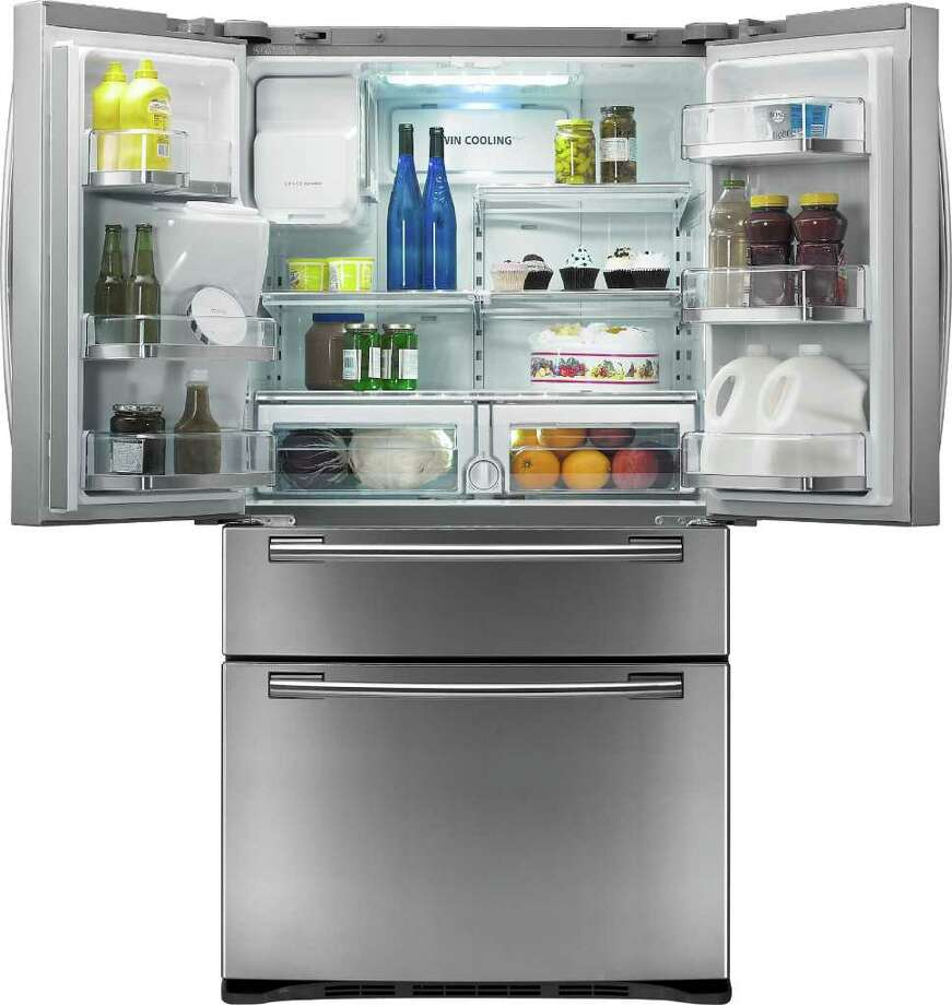 Clean your old yogurts and mayonnaise out of the office refrigerator. Photo: Samsung, Samsung LCD Refrigerator With Ap / Samsung
