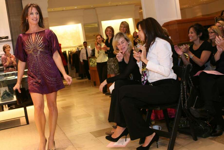 Cancer Care of Connecticut volunteer model Kathleen Krause wore the latest fashion from Nanette Lepore during Thursday mornings Key to the Cure fashion show at Saks Fifth Avenue on Greenwich Avenue. Photo: David Ames / Greenwich Time
