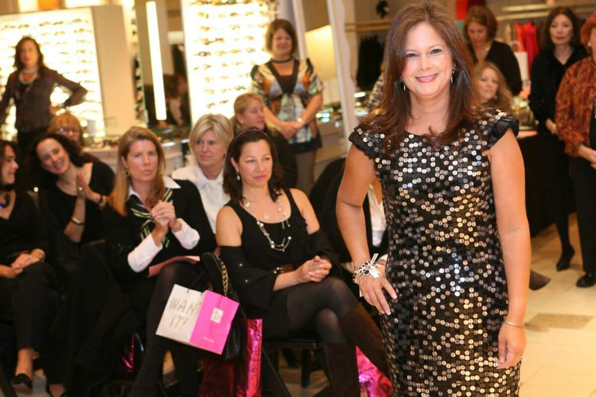 Cancer Care of Connecticut volunteer model Cassie Echevvaria sported a Diane Von Furstenberg dress during Thursday mornings Key to the Cure fashion show at Saks Fifth Avenue on Greenwich Avenue.