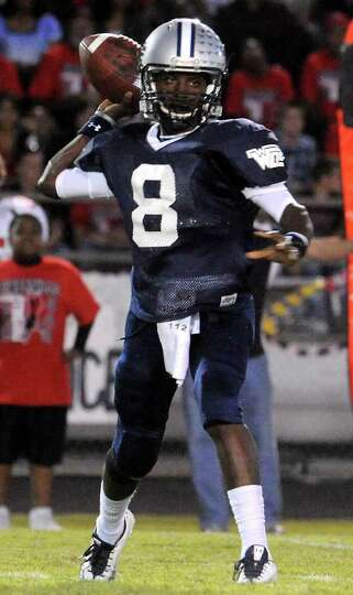 WOS's Jimmy Salter passes the ball during the game againt Kirbyville at West Orange-Stark High Schoo