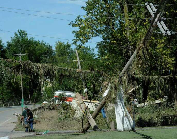 Damage is everywhere in Middleburg, N.Y. Aug. 29, 2011.   (Skip Dickstein / Times Union)
