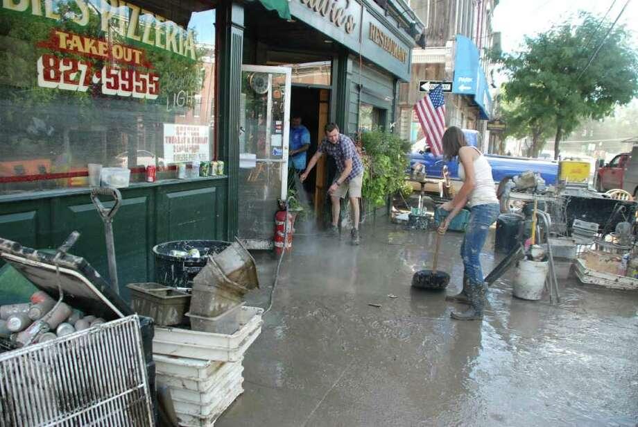 The aftermath of Hurricane Irene in Schoharie, N.Y.  (Yi-Ke Peng / Times Union) Photo: Yi-Ke Peng