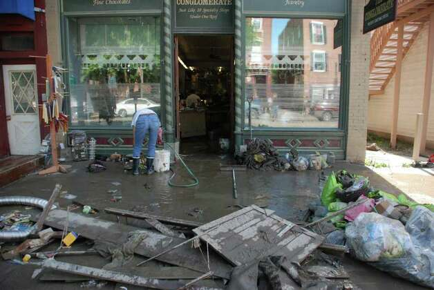 The aftermath of Hurricane Irene in Schoharie, N.Y.  (Yi-Ke Peng / Times Union) Photo: Yi-Ke Peng