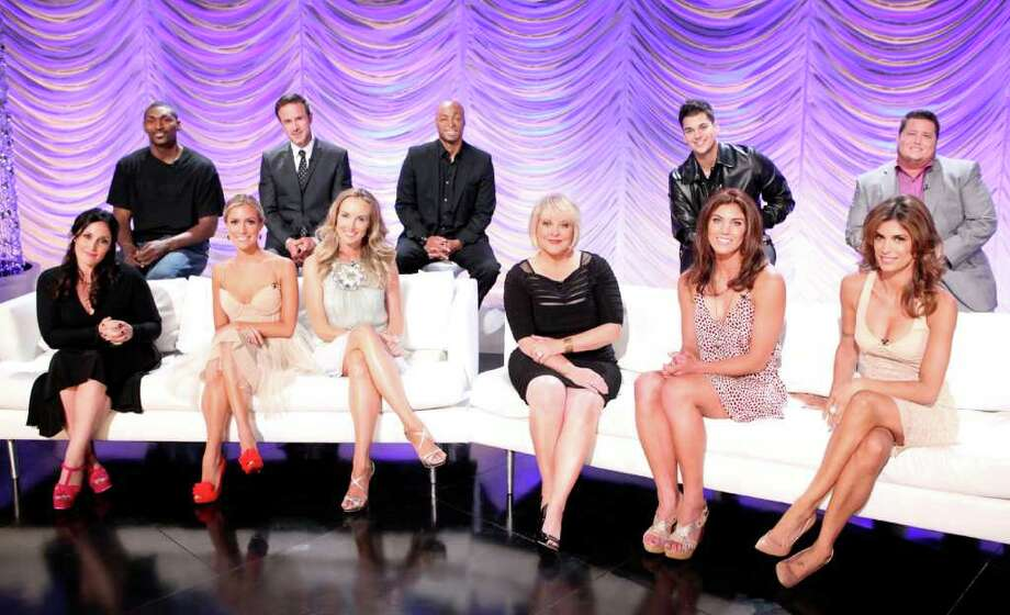 "In this image released by ABC, back row from left, NBA player Ron Artest, actor David Arquette, actor and Iraq War veteran J.R. Martinez, TV personality Rob Kardashian, activist Chaz Bono, seated from left, TV personalities Ricki Lake, Kristin Cavallari, singer Chynna Phillips, TV host Nancy Grace, Soccer player Hope Solo and Italian personality Elisabetta Canalis, the celebrity cast for the upcoming dance competition series, ""Dancing with the Stars,"" pose for a portrait in Los Angeles. The series will premiere on Monday, Sept. 19, 2011 on ABC. Photo: AP"