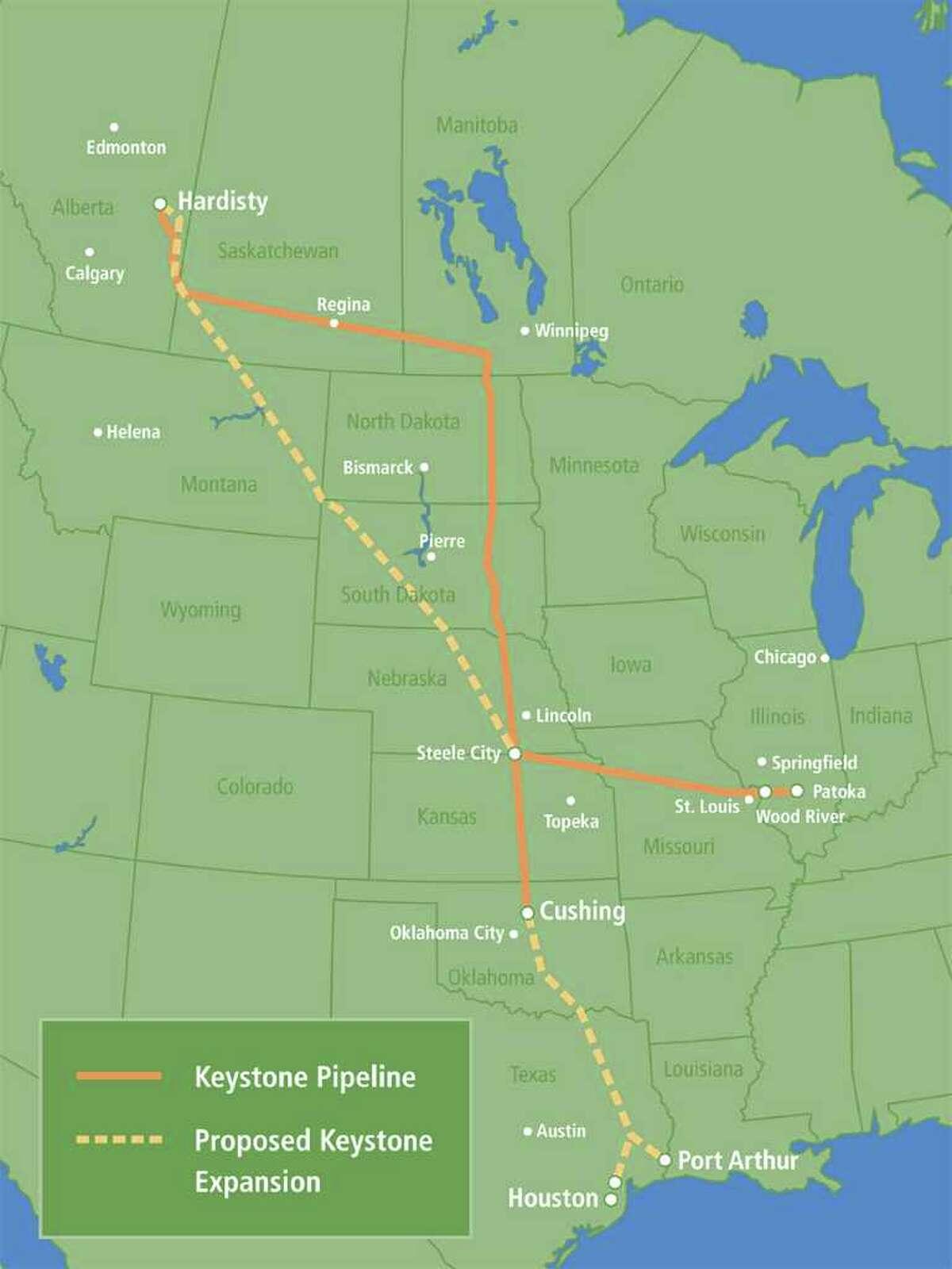 Map of Keystone XL