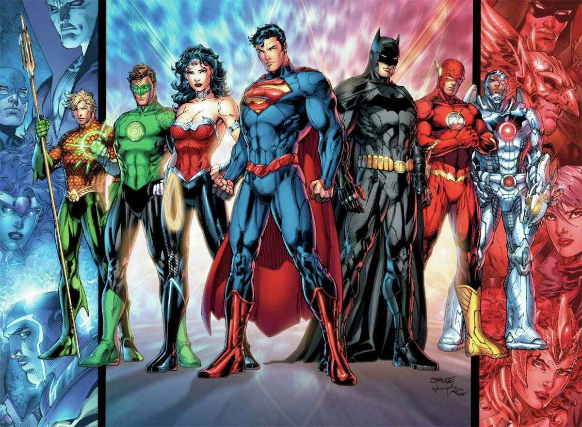 In September, DC Comics renumbers its entire comic line in a new initiative called the New 52, which renumbers all 52 of its titles with new No. 1 issues. Pictured are the members of the Justice League. DC COMICS