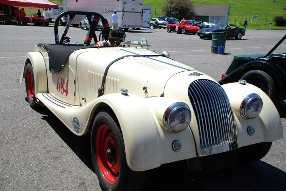 Chip Brown, 67, of Silvermine, will race his 1957 Morgan +4 car (pictured) at the Historic Festival 29 at Lime Rock Park in Lakeville over Labor Day weekend. Photo: Contributed Photo