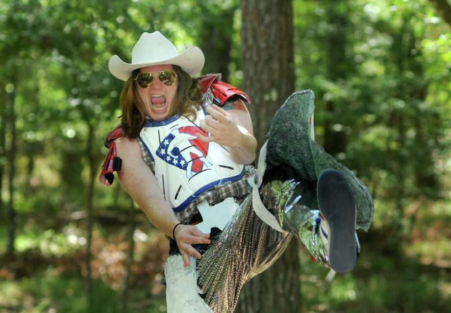 Taylor Fullbright, 29, of The Woodlands, is the air guitar dude. Freelance photo by Jerry Baker Photo: Jerry Baker, Freelance