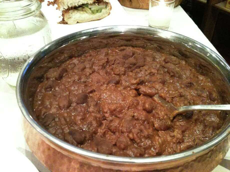 Barbecue baked heirloom beans from Revival Market Photo: Greg Morago