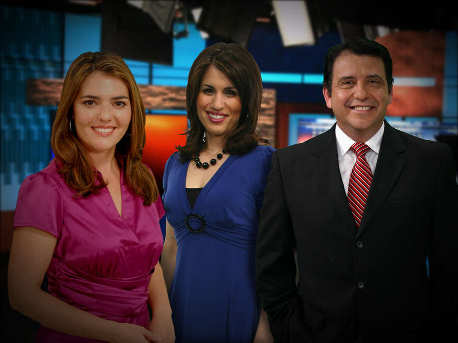 "KABB meteorologist Mike Hernandez is pictured with ""Fox News First"" anchorwoman Monica Taylor and former traffic personality Miriam Zamorano."