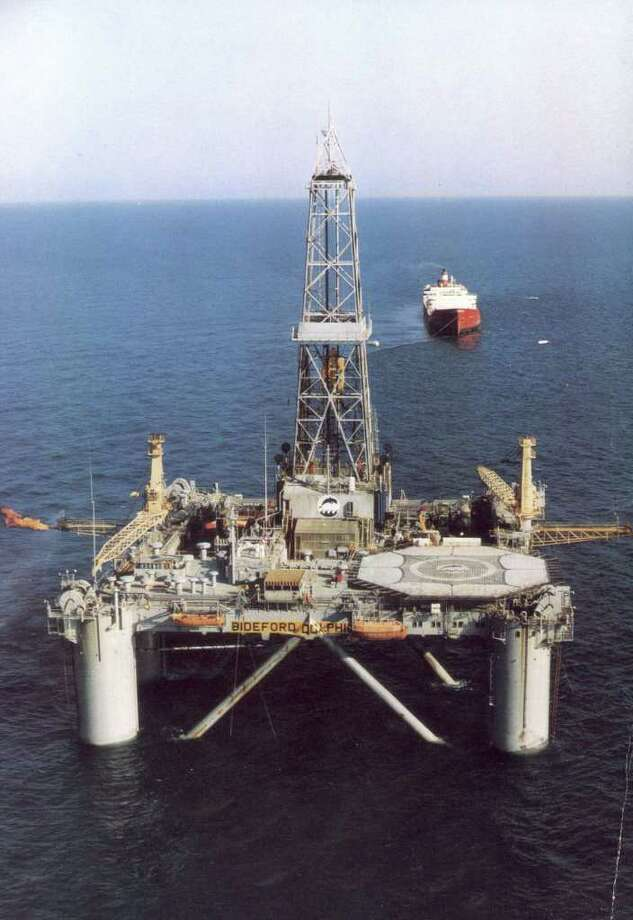 """FILE - In this undated file photo, Norwegian oil rig """"Bideford Dolphin"""" is seen in the Snorre oil field in the North Sea off the coast of Norway. Amid the rough undercurrents of economic and financial uncertainty tugging at Europe, Norway is a rock-solid island of the blessed. Because it is outside the European Union, it does not have to contribute to bailouts of Greece and other foundering eurozone nations. And if all that were not enough, one of Europe's most prosperous nations is about to get richer _ two of its previous North Sea oil discoveries are substantially bigger than previously thought. (AP Photo/Scanpix) NORWAY OUT / SCANPIX"""