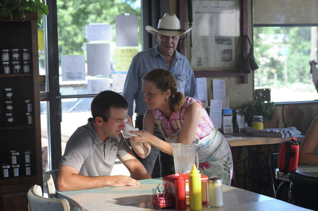 "Actors Lucas Black (from left), Melissa Leo and Robert Duvall star in the new golf movie ""Seven Days in Utopia,"" which opens nationwide Friday. Photo: Courtesy Photo"