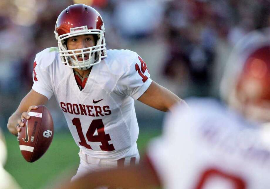 Oklahoma's Sam Bradford posted the top two efficient seasons for a Big 12 QB, then was drafted No. 1 overall by St. Louis. Photo: David J. Phillip/Associated Press
