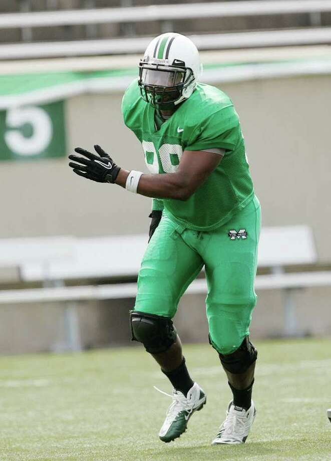 4. Marshall (3-9, 3-5): Senior defensive end Vince Curry leads an experienced defense (eight returning starters) Photo: Randy Snyder, Associated Press / Associated Press