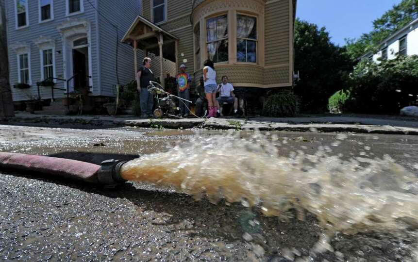Clean up continues for residents of N. Ferry  Street in the Stockade section of Schenectady, N.Y. as