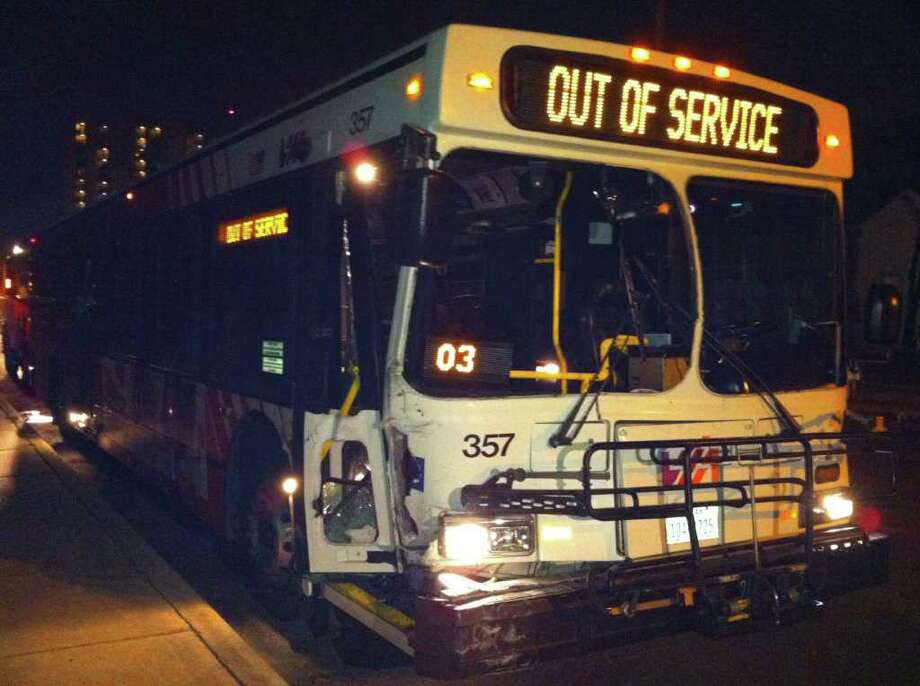 """It happens. But it doesn't really have to, does it? """"It's not every day,"""" said Delahunt. """"People, just like anywhere else, they get up, they try to go to work when they're hung over and they get sick on the bus. You try to cover it up with newspapers, and then you get another bus."""" But if you think you might puke, maybe you should just stay home. Photo: Jessica Kwong/jkwong@express-news.net"""