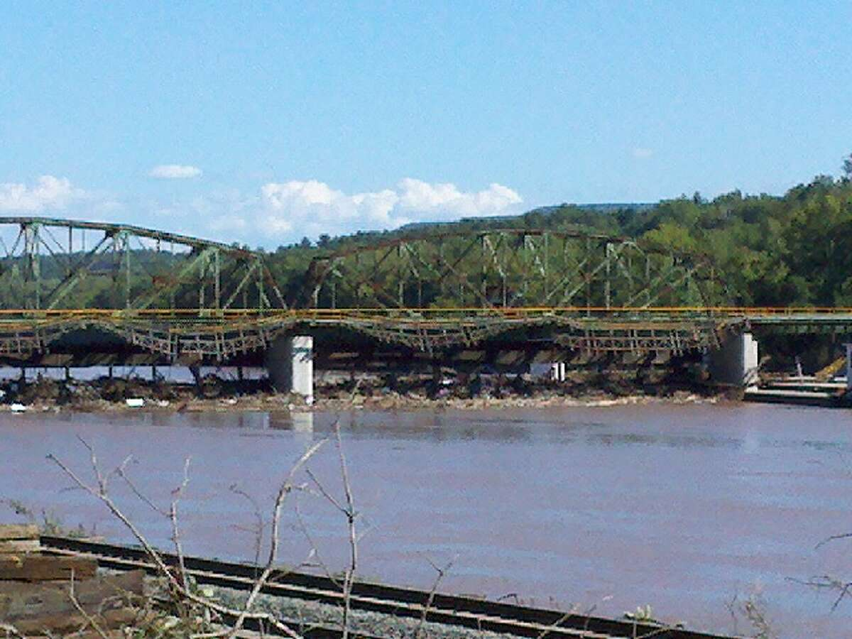 Lock 10 in the town of Amsterdam shows signs of flooding that filled the Mohawk River after Tropical Storm Irene passed on Sunday, Aug. 28, 2011. (DAYELIN ROMAN / TIMES UNION)