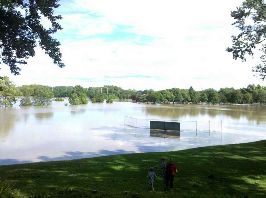 This was the baseball field in Collins Park in Scotia. (Kimberly Schaffer)
