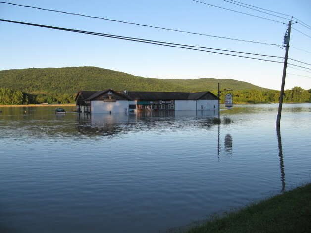 Flooding along the Mohawk River in Rotterdam Junction. (John P. Spenello)