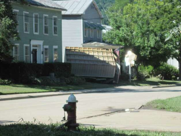 Homes damaged by Hurricane Irene and flooding on Main Street in Schoharie. (Christopher Lisio)
