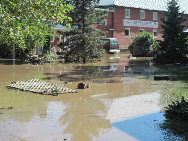 The Harva Company in the village of Schoharie was damaged by flood waters caused by Hurricane Irene. (Jennifer Patterson)