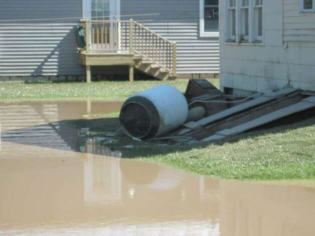 Homes throughout the village of Schoharie were damaged by epic flooding caused by Hurricane Irene. (Christopher Lisio)
