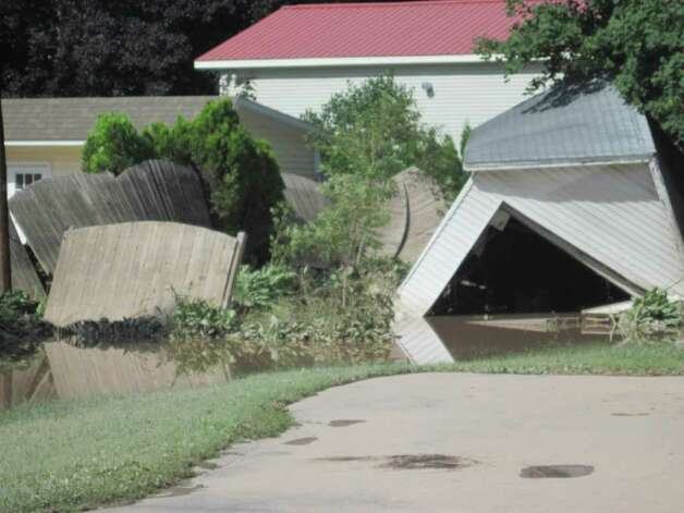 Homes throughout the village of Schoharie were damaged by epic flooding caused by Hurricane Irene. (Jennifer Patterson)