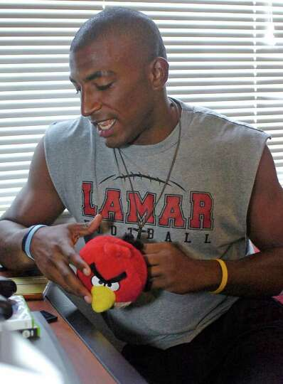 J.J. Hayes is now a Lamar University football player who lived briefly in a Chevy van while he was a