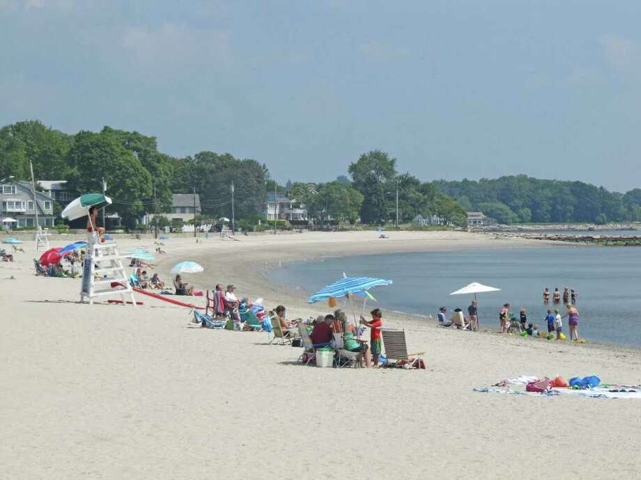 Pictured is a view of Compo Beach. Westport's beaches will re-open today (Wednesday) for the first time since Hurricane Irene blasted the east coast. Photo: Kirk Lang / Westport News