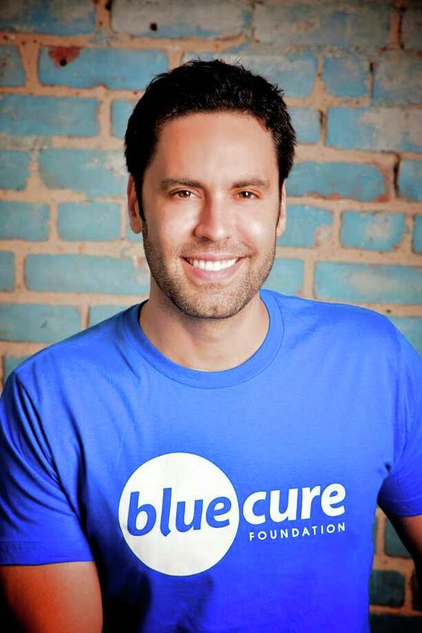 Gabe Canales'  experience battling prostate cancer prompted him to launch a non-profit called the Blue Cure Foundation, which seeks to spread awareness about prostate cancer.  Photo by Sofia Van Der Dys Photo: Sofia Van Der Dys / © 2011 Sofia van der Dys
