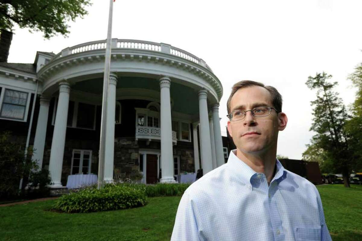 Mark Feiner, Assitant Head of School at Greenwich Academy at the school, Wednesday, Aug. 31, 2011. Feiner was teaching English at the school the day of the 9/11 attacks.