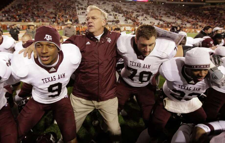 Texas A&M head coach Mike Sherman and his Aggies are off to the SEC .  ( Karen Warren / Houston Chronicle ) Photo: Karen Warren, HC Staff / Houston Chronicle