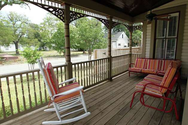 The front porch of the home of Christine and Rene Salenga. Photo: Jennifer Whitney, Special To The Express-News / special to the Express-News