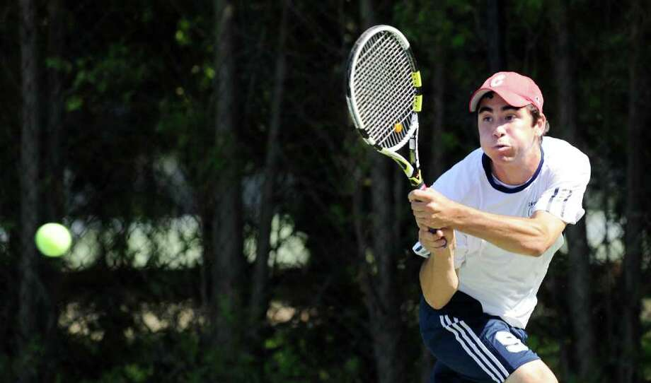 Danny Hirschberg won two straight Class LL singles title and was the State Open singles champion this year. Hirschberg's victory led the Wreckers to the Class LL title and he's on Brown University's roster this year. Photo: Bob Luckey / Staff Photographer / Greenwich Time