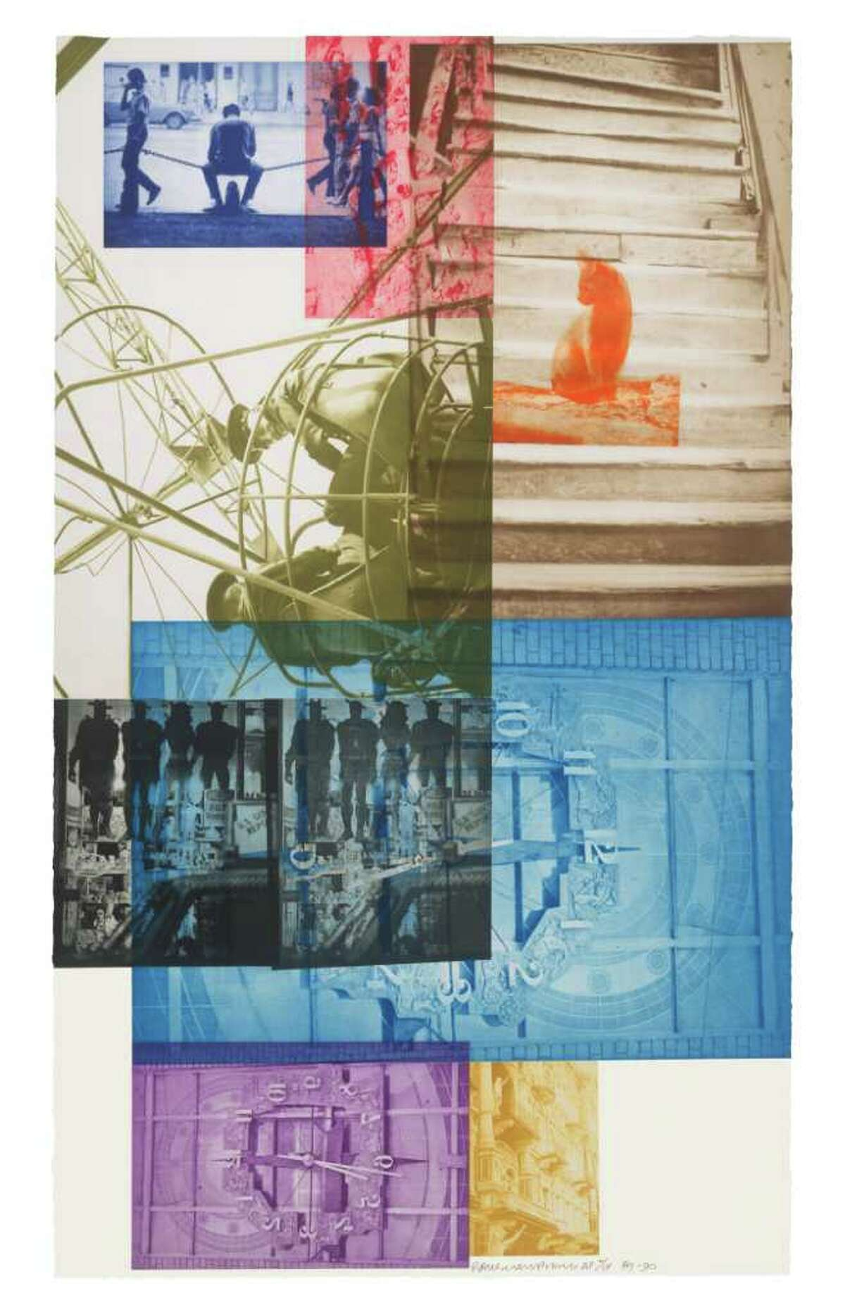 Robert Rauschenberg Stunt Man I, 1962 Lithograph in 2 colors 22 1/2 in. x 17 1/2 in. Edition 37 Published by Universal Limited Art Editions Robert Rauschenberg/ Universal Limited Art Editions, 1962/ Licensed by VAGA, New York, NY.
