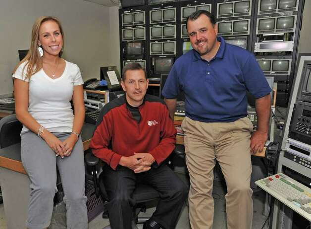 From left, Dani Stein, Rich Becker and Scott Morlock in a production room at Fox-23 studios in Albany, N.Y. on Tuesday , Aug. 30, 2011.  (Lori Van Buren / Times Union) Photo: Lori Van Buren