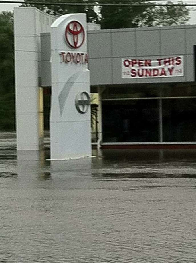 "User-submitted photo of damage from Hurricane Irene.  Submitted by Steph ""Not this Sunday!!!!!"" Photo: Contributed"