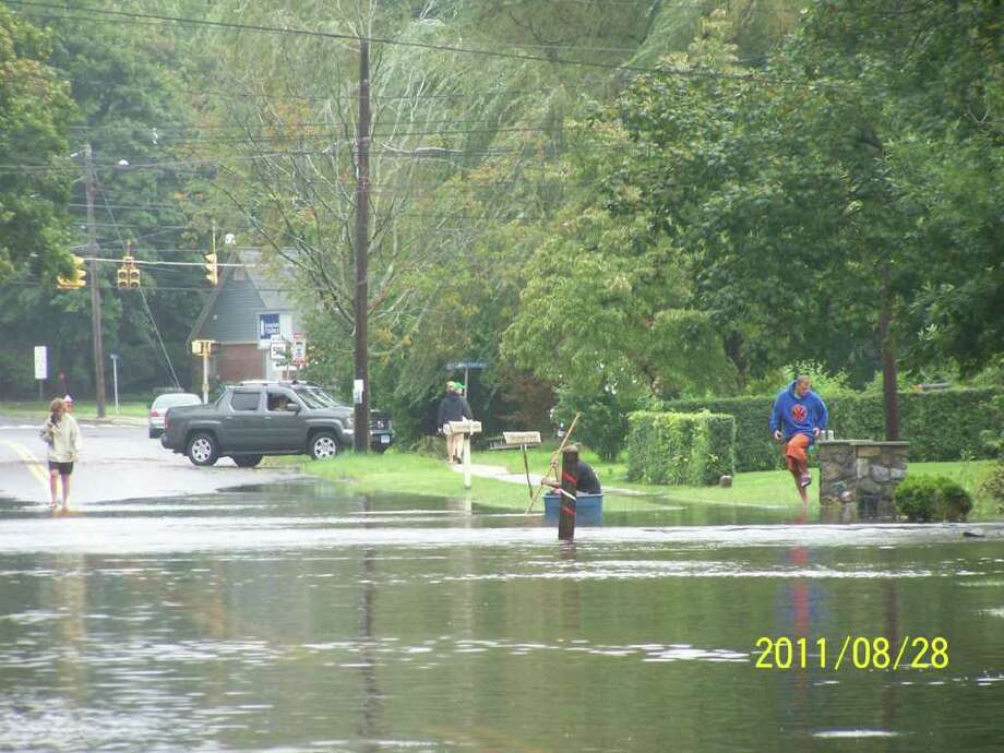 "User-submitted photo of damage from Hurricane Irene.  Submitted by Annie ""Sailing in a Bucket !!"" Photo: Contributed"