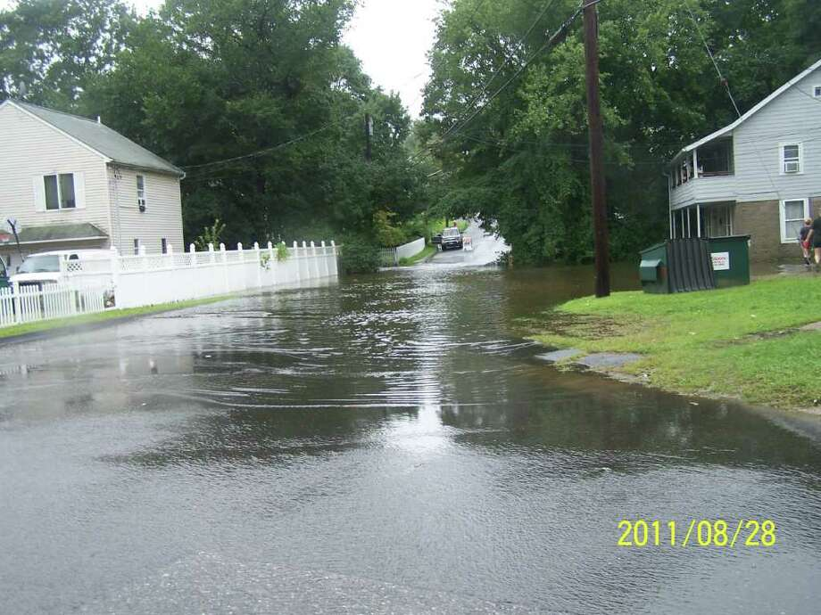 "User-submitted photo of damage from Hurricane Irene.  Submitted by Annie ""Fleetwood Ave & Linbergh St "" Photo: Contributed"