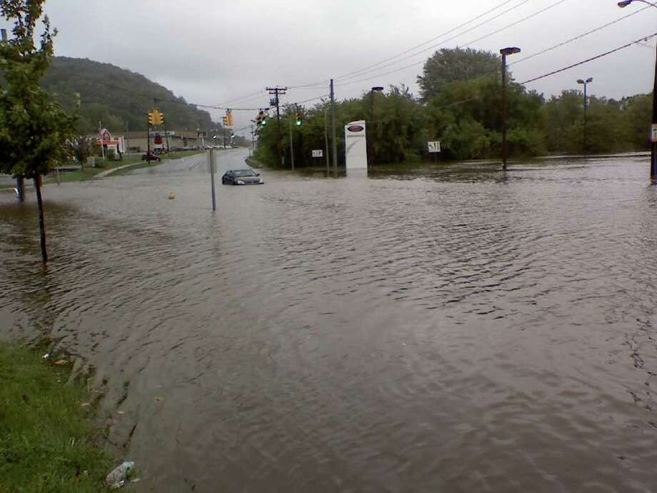 "User-submitted photo of damage from Hurricane Irene.  Submitted by jh ""Federal Road Danbury, Ct"" Photo: Contributed"
