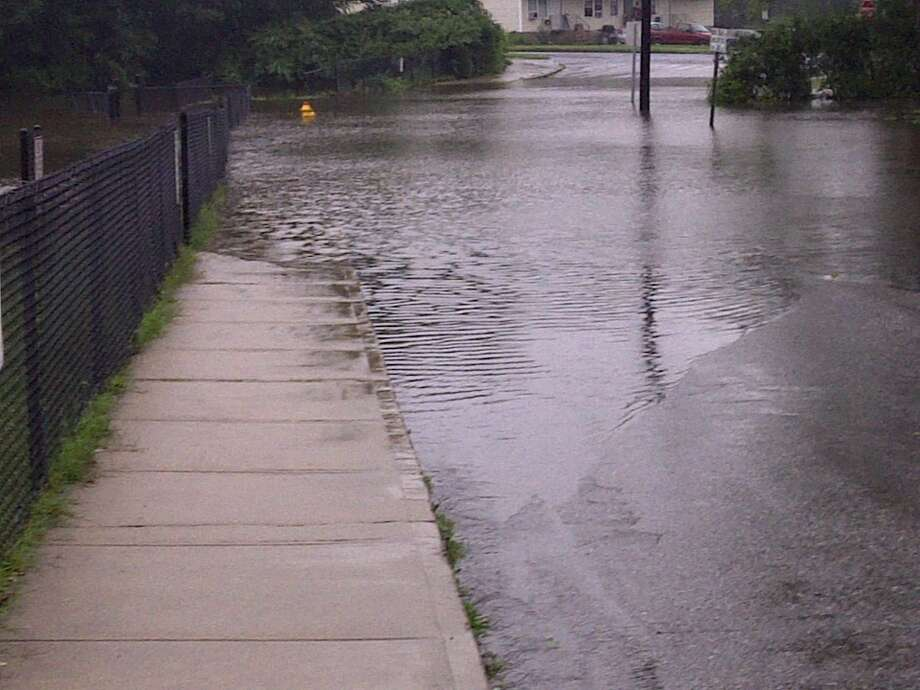 "User-submitted photo of damage from Hurricane Irene.  Submitted by Dallas ""Rowan Street Park Danbury "" Photo: Contributed"