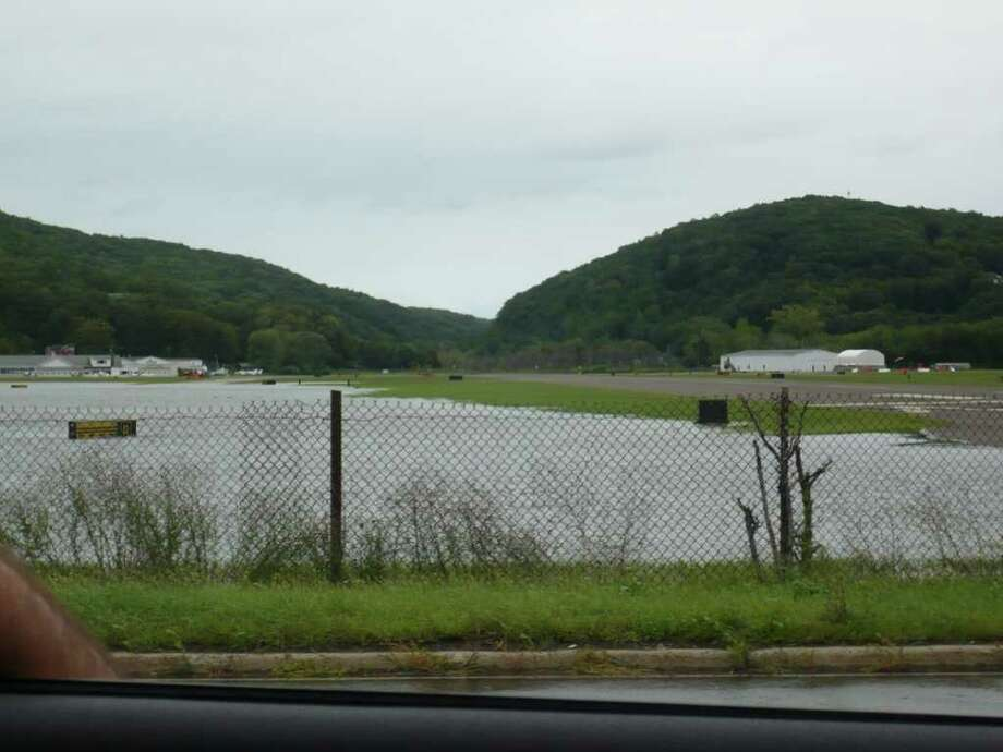 "User-submitted photo of damage from Hurricane Irene.  Submitted by Danny Rocco ""Danbury Airport"" Photo: Contributed"